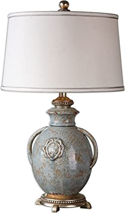 Uttermost 26483 Cancello Glaze Lamp, Blue by Uttermost