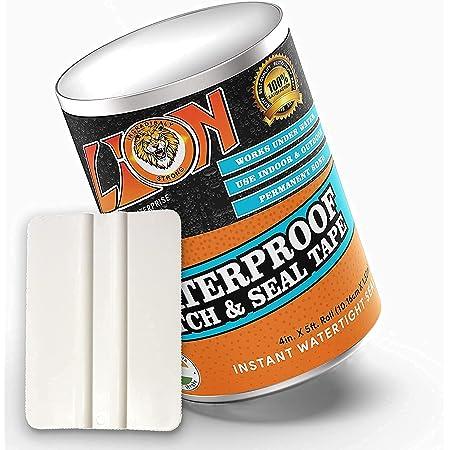 "VIVNITS Waterproof Flex Tape,Seal Repair Tape, Super Strong Adhesive Sealant Tape to Stop Leakage of Kitchen Sink/toilet Tub, leak stop, stop leak tape, Black 4"" X 5' (Silver Flex Tape)"