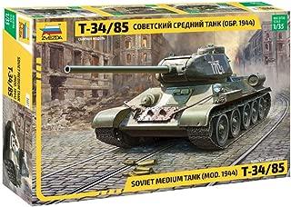 Zvezda 3687 500783687-1:35 T-34/85 Soviet - Tanque Mediano para construcción de maquetas, construcción de Modelos, Hobby, Manualidades, Kit de Montaje de plástico, sin barnizar