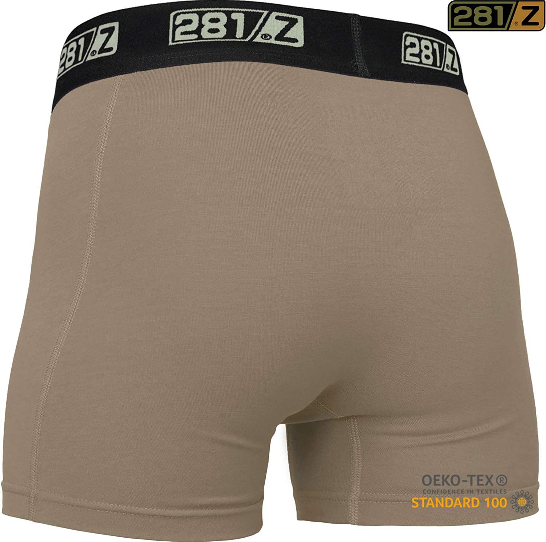 281Z Military Underwear Cotton 4-Inch Boxer Briefs - Tactical Hiking Outdoor - Punisher Combat Line