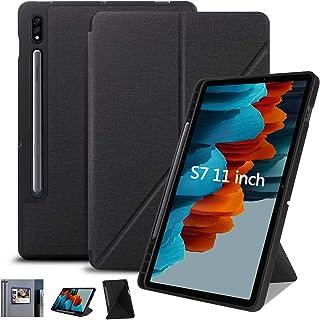 جراب لهاتف Samsung Galaxy Tab S7 11 بوصة 2020 رفيع قابل للطي، زوايا متعددة العرض، غطاء خلفي ناعم من البولي يوريثان الحراري...