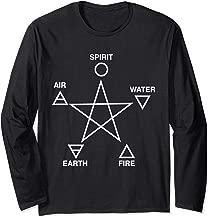 Five Elements Pentagram Long Sleeve T-Shirt Wicca Paganism