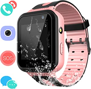 Jesam Kids Waterproof Smart Watch Phone - Children Water Resistant Watch with Call Talkie Walkie Games Sports Wristband for Boys Girls Grade Student Gifts