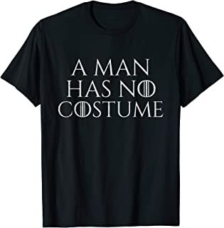 A Man Has No Costume Vintage T-Shirt Funny Halloween Joke