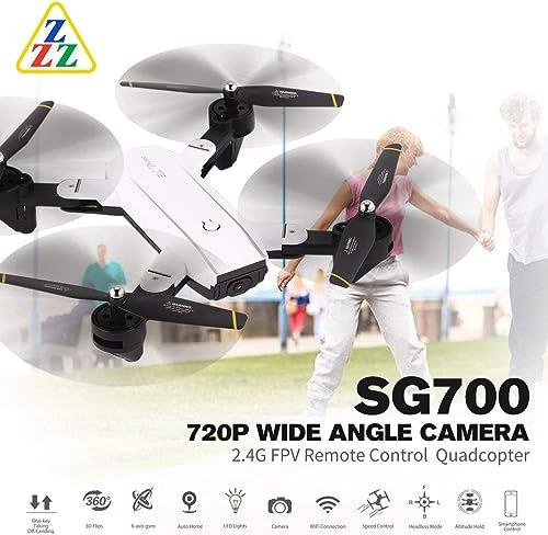 el mas de moda WOSOSYEYO SG700 2.4G 2.4G 2.4G RC Drone Plegable Quadcopter con FPV 720P Cámara de ángulo Amplio Altitud Mantener el Modo sin Cabeza Control Remoto Juguete (blanco)  alta calidad general