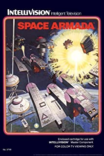 Space Armada Intellivision Box Art Video Game Gaming Retro Cool Huge Large Giant Poster Art 36x54