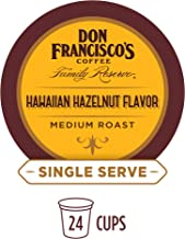 Don Francisco's Hawaiian Hazelnut Flavored (24 Count) Single-Serve Coffee Pods, Compatible with Keurig K-Cup Brewers