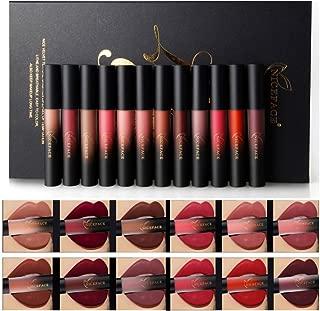Shouhengda Matte Lipgloss Kit,Valentine's Day Gift for Women 12 Colors Waterproof Lipstick Long Lasting Lip Liquid Sexy Moisturizing Lipgloss Set