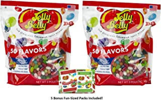 Jelly Belly Jelly Beans 50 Flavors 6 Pounds, Includes Five Bonus Fun-Sized Packs