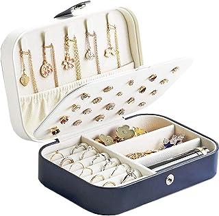 comprar comparacion Tokmali Caja Joyero Pequeña,Portátil Joyero Viaje Cajas para Joyas Jewelry Organizer para Mujer, para Anillos, Aretes, Pen...