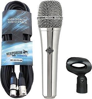 Telefunken M80Chrome dinámico micrófono Keepdrum XLR Cable 6m