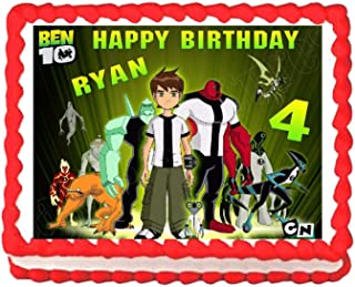 Cakes for Cures Ben 10 Edible Edible Cake Topper Frosting Sheet Decoration - Personalized Free