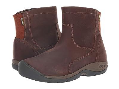 Keen Presidio II Waterproof Mid Zip Boot (Tortoise Shell/Cornstalk) Women