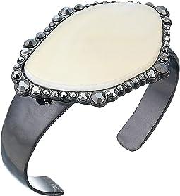 Pave Agate Cuff Bracelet