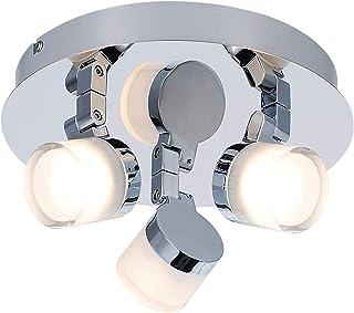 Plafonnier 3 Spots - Collection Gyra - Spécial Salle de Bain - Chrome - 15 Watts - 1050 LM - 3000 K - IP44