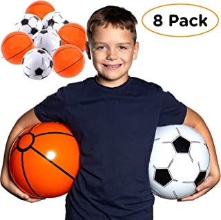 """Inflatable Football Sports Beach Ball Kids 8/"""" Pool Party Toys Games FootBall"""