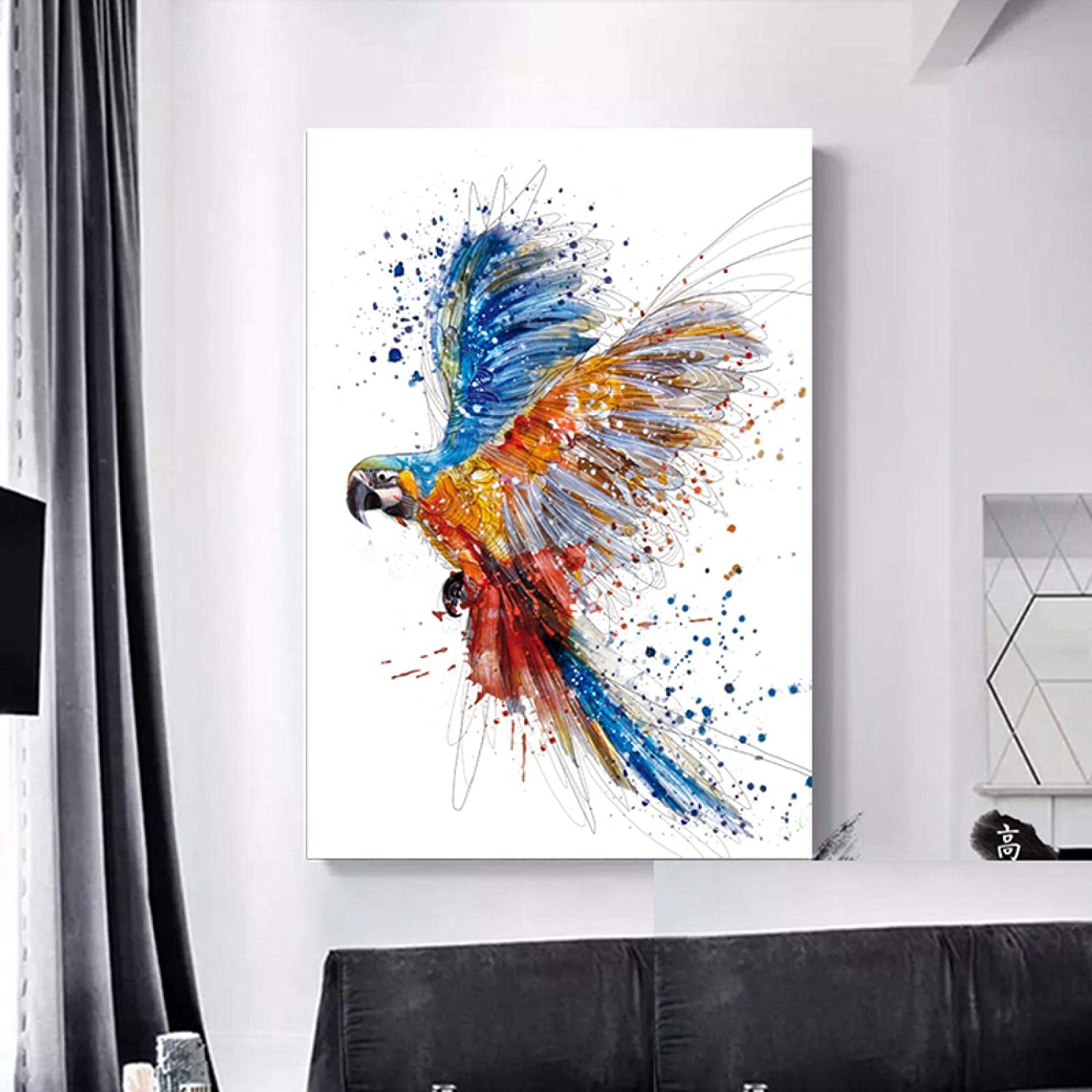 Sunsightly Canvas Classic Wall Art Paintings Max 84% OFF Colorful Animal Parr