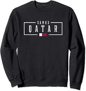 Vamos Qatar Qatari Football Soccer Fans Tee Sweatshirt