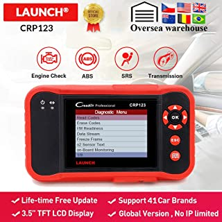 launch creader - X431 CRP123 OBD2 Automotive Scanner ABS SRS Airbag Transmission Engine Car Diagnostic Tool free update pk Creader vii+ ()