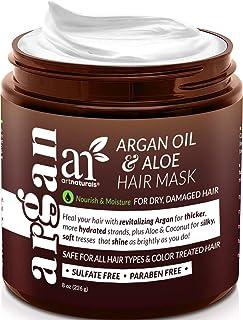 ArtNaturals Argan Oil Hair Mask - (8 Oz/226g) - Deep Conditioner - pure Organic Jojoba Oil, Aloe Vera & Keratin - Repair Dry, Damaged Or Color Treated Hair After Shampoo - Sulfate Free