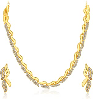 Sukkhi Graceful Gold Plated AD Necklace Set For Women(Golden) (2724NGLDPF1000)