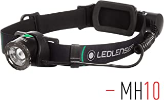Ledlenser - MH10 Lightweight Rechargeable Headlamp with Rear Light, High Power LED, 600 Lumens, Outdoor Series, Backpacking, Hiking, Camping