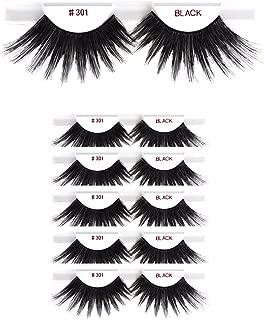 6packs Eyelashes - #301 Christina 100% Human Hair Fake Eyelashes