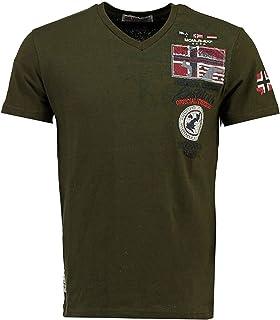 Geographical Norway JOTHAM - Camiseta Algodón para Hombre - Camiseta Modelo Hombre con Logo - Shirt Regular Manga Corta - ...