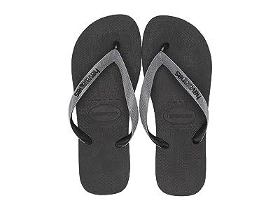 Havaianas Top Mix Flip Flops (Black/Steel Grey/Black) Men