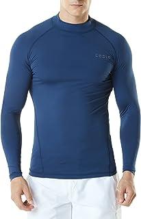 TSLA Men's UPF 50+ Long Sleeve Rash Guard, UV/SPF Quick Dry Swim Shirt, Water Surf Swimming Shirts