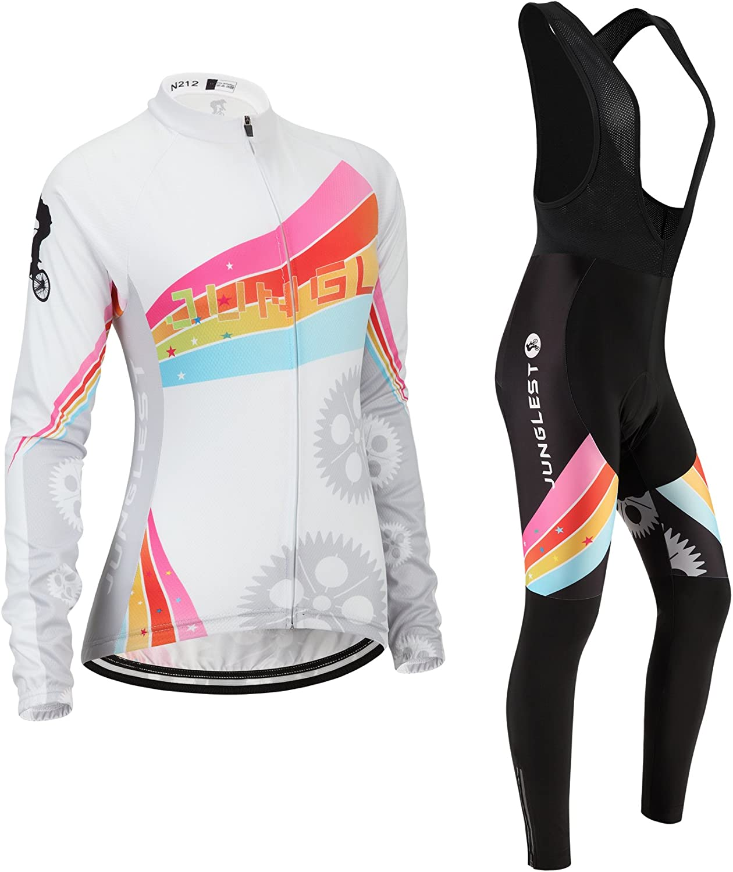 Cycling jersey Set, Maillot de Cyclisme Women Femme Long sleeve Manches Longues(S5XL,option bib Cuissard,3D pad Coussin) N212