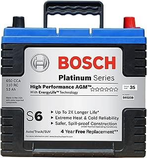 Bosch S6523B S6 Flat Plate AGM Battery