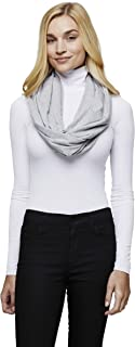 Sleeper Scarf 2-in-1 Convertible & Inflatable Travel Neck Pillow Infinity Scarf (Heather Grey)
