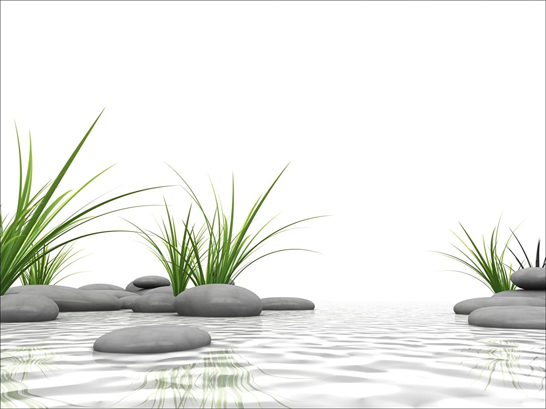 Artland Qualittsbilder I Alu Dibond Bilder Alu Art 80 x 60 cm Wellness Zen Stein Foto Natur D3BF 3 D Steine