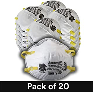 3M Particulate Respirator 8210, N95 (Pack of 20) by 3M