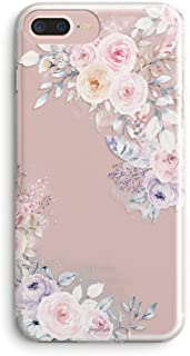iPhone 5s Case,iPhone SE Case,Cute Spring Roses Floral Flowers Daisy Blooms Obsession Camellia Trendy Pink Purple Chic Garden Lovely Women Girls Clear Soft Case Compatible for iPhone SE/iPhone 5S