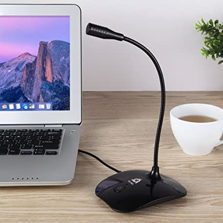 Klim Talk - USB Desk Microphone for Computer - Compatible with Any PC, Laptop, Mac, PS4 - Professional Desktop Mic with Stand - Recording, Gaming, Streaming, YouTube, Podcast Mics, Studio Microfono