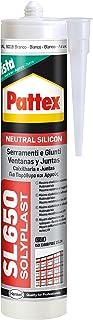 Pattex SL650, silicona neutra para ventanas y juntas, color blanco, 300 ml