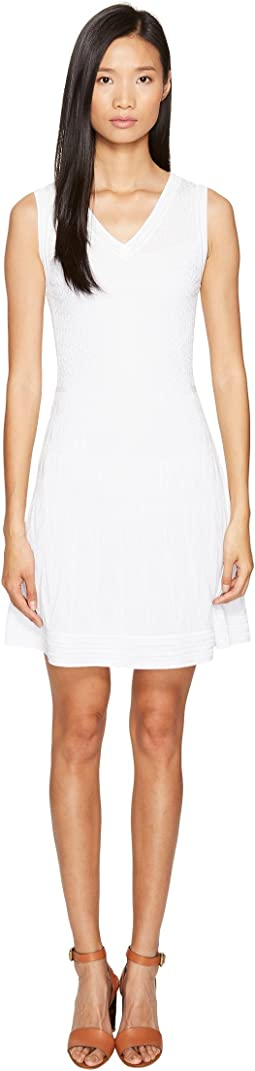 357a74bf09d8 White. 13. M Missoni. Solid Knit Sleeveless V-Neck Dress.  247.99MSRP    495.00. Luxury. Black 1