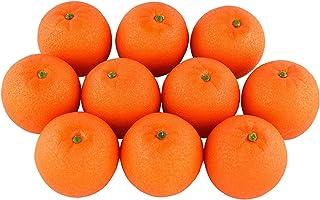 Juego de fruta artificial realista de imitación, 10 unidades, color naranja, para casa, cocina, decoración de fiestas