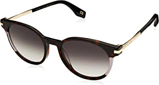 Marc Jacobs Oval Sunglasses for Unisex - Grey Lens