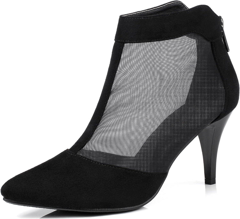 LizForm Women Pointed Toe Low Heel Pumps Comfortable Kitten Heels Evening Dress Heeled Boots