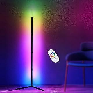 Bellanny 20W Lampadaire LED, Lampe Salon avec Télécommande, Couleur Changeante RGB, Lampe d'angle Luminosité Réglable, Lam...