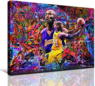 JUSTBR Sports Poster Teenage Boy Art Canvas Inspirational Poster Basketball Wall Art Print Personalized Picture for Office...