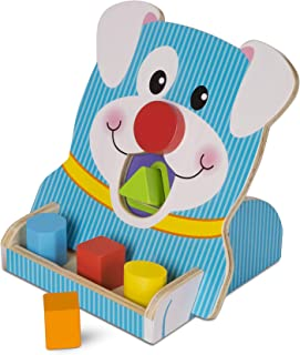 MELISSA & DOUG FIRST PLAY TOUCH AND FEEL PUZZLE PEEK-A-BOO PETS 4 PCS Holzspielzeug