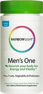 Rainbow Light Men's One Multivitamin for Men, with Vitamin C, Vitamin D, & Zinc for Immune...