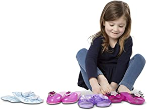 Melissa & Doug Role Play Collection, Step In Style! (Dress-Up Shoes, Pretend Play, Set of 4 Pairs, Great Gift for Girls and Boys - Best for 3, 4, and 5 Year Olds)