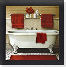 Amazon Com Red Bathroom Wall Decor