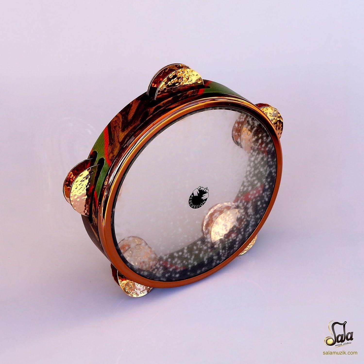 うねるレクリエーション溶岩Professional Emin Percussion Riq Tef Tambourine Def Drum EP-115-B1