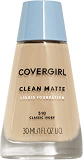 COVERGIRL Clean Matte Liquid Foundation Classic Ivory, 1 oz (packaging may vary)